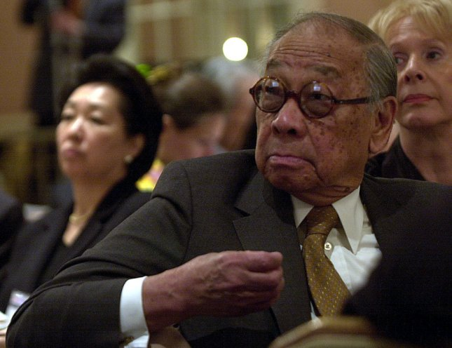 Architect I.M. Pei died at the age of 102, his son said on Thursday. File Photo by Ezio Petersen UPI