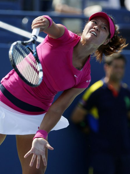 Li Na, shown during the 2012 U.S. Open, stayed unbeaten in 2013 with a straight-set win Monday in first-round play of the Apia International tennis tournamentin Sydney. UPI/John Angelillo