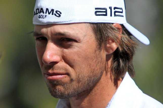 Aaron Baddeley speaks with the press. UPI/ David Silpa