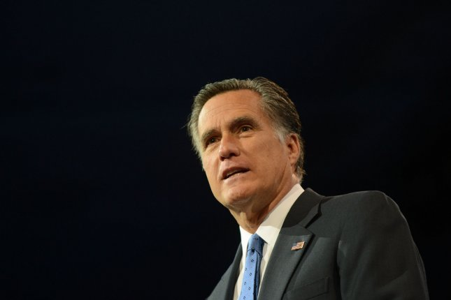 Mitt Romney, shown here in 2013, says his attack on Donald Trump helped sway primary voters away from the candidate. File Photo by Kevin Dietsch/UPI