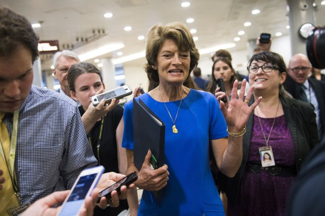 Sen. Lisa Murkowski, R-Alaska, was one of three Republicans to vote against efforts to repeal parts of the Affordable Care Act, even after the Trump administration said Alaska energy was on the line. Photo by Kevin Dietsch/UPI