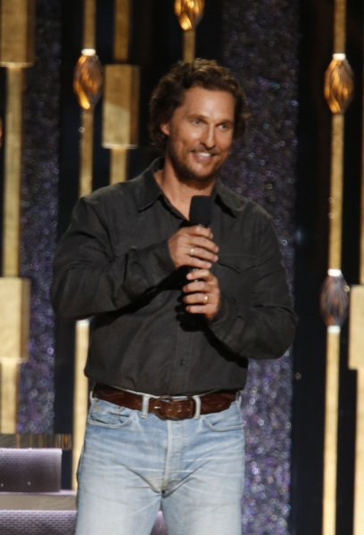 Matthew McConaughey introduces at the 2016 Country Music Awards in Nashville on November 2, 2016. The actor took part in Tuesday's Hand in Hand telethon to help victims of Hurricanes Harvey and Irma. File Photo by John Sommers II/UPI