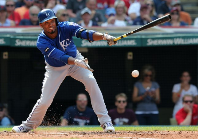 Alcides Escobar and the Kansas City Royals take on the Detroit Tigers on Sunday. Photo by Aaron Josefczyk/UPI
