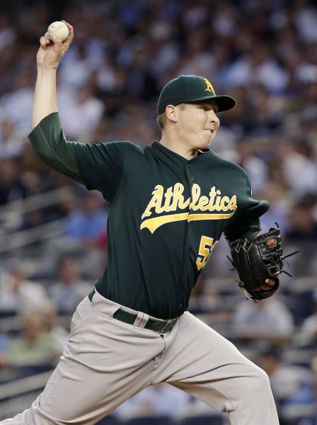 Trevor Cahill and the Oakland A's take on the Minnesota Twins on Thursday. Photo by John Angelillo/UPI