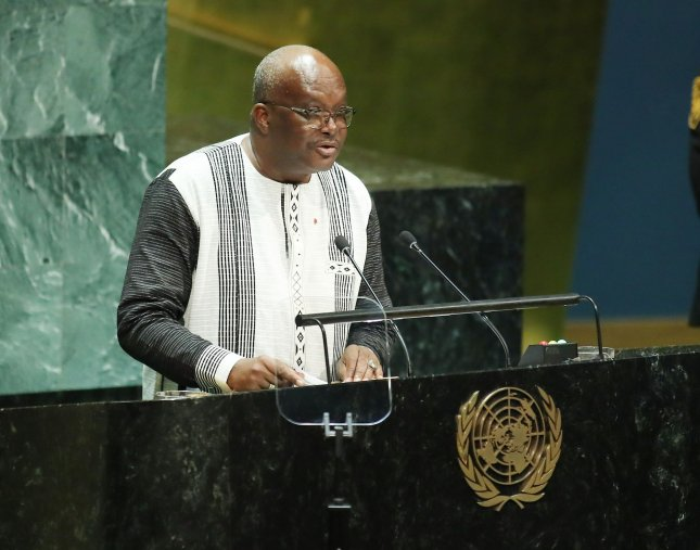 Burkina Faso Roch Kabore announced Saturday an attack on the Solhan village in the Sahel region that killed 100 civilians. File Photo by Monika Graff/UPI