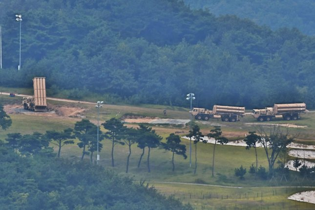 The Terminal High Altitude Area Defense base in Seongju, South Korea, has become the site of frequent clashes between protesters and police. File Photo by Keizo Mori/UPI