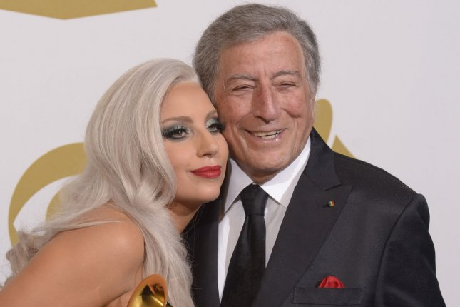 Lady Gaga (L) and Tony Bennett will reunite for a two-night event in honor of Bennett's 95th birthday following his diagnosis with Alzheimer's disease. File Photo by Phil McCarten/UPI