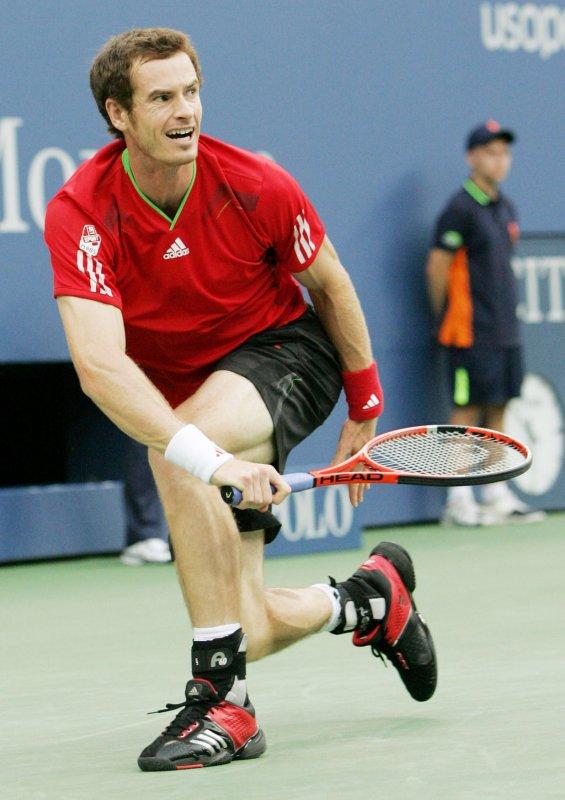 Andy Murray returns a shot during the U.S. Open Sept. 10, 2011. UPI/Monika Graff