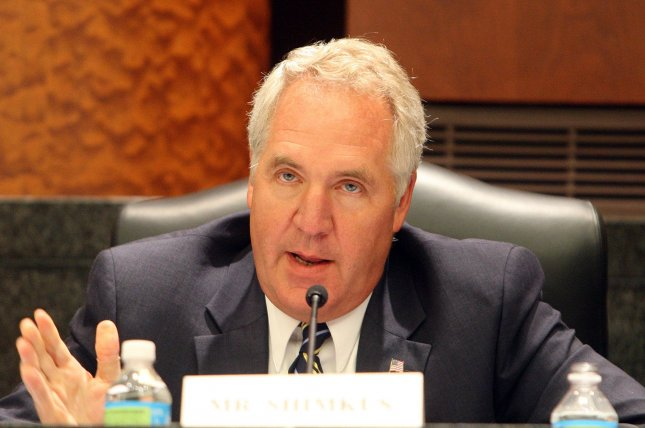 U.S. Rep. John Shimkus (R-IL) gives opening remarks during a congressional hearing on the sterilization practices at the John Cochran Veterans Hospital in St. Louis on July 13, 2010. UPI/Bill Greenblatt