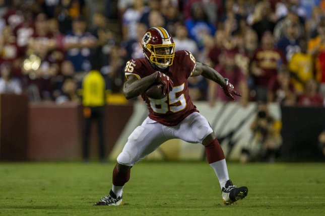 Washington Redskins tight end Vernon Davis was a two-time Pro Bowl selection and a second-team All-Pro in 2013. File Photo by Tasos Katopodis/UPI