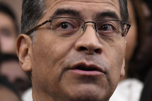 Vice President-elect Joe Biden is expected to nominate California Attorney General Xavier Becerra to head the Health and Human Services Department. Photo by Mike Theiler/UPI