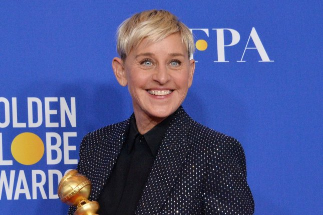 Ellen DeGeneres looked back on starting her daytime talk show on The Late Late Show with James Corden. File Photo by Jim Ruymen/UPI