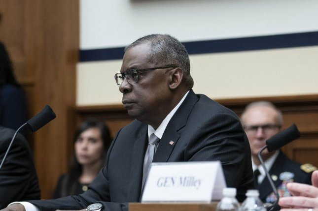 Secretary of Defense Lloyd Austin called for more partnership in the Indo-Pacific region on Tuesday during a speech in Singapore. Photo by Sarah Silbiger/UPI