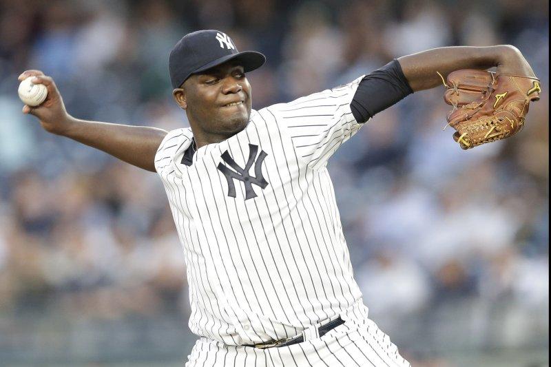 New York Yankees starting pitcher Michael Pineda. Photo by John Angelillo/UPI