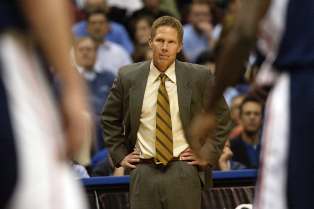 Gonzaga coach Mark Few's team is bracing itself for the challenge West Virginia's defense presents after looking at the results of the Mountaineers' 83-71 win over Notre Dame in an NCAA Tournament second-round game last week. File Photo by Bill Greenblatt/UPI