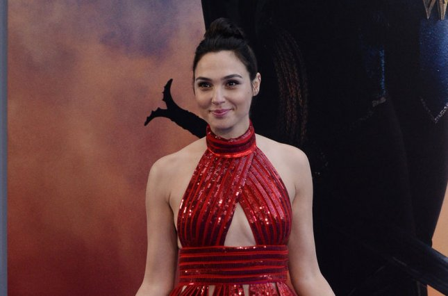 Gal Gadot attends the premiere of Wonder Woman on May 25. Gadot joined Conan O'Brien Thursday for a round of Wonder Woman training. Photo by Jim Ruymen/UPI