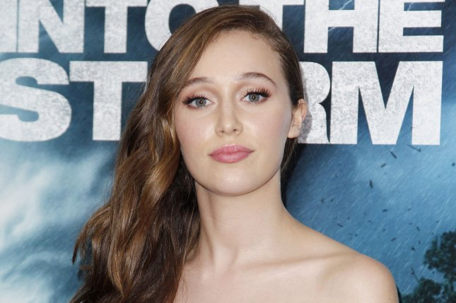 Alycia Debnam-Carey arrives on the red carpet at the Into The Storm premiere in New York City on August 4, 2014. The actress can now be seen on AMC's Fear the Walking Dead. File Photo by John Angelillo/UPI