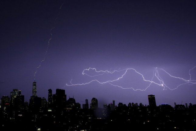 New research showed fiber optic cables can be used to measure tiny seismic events generated by thunderstorms. Photo by John Angelillo/UPI