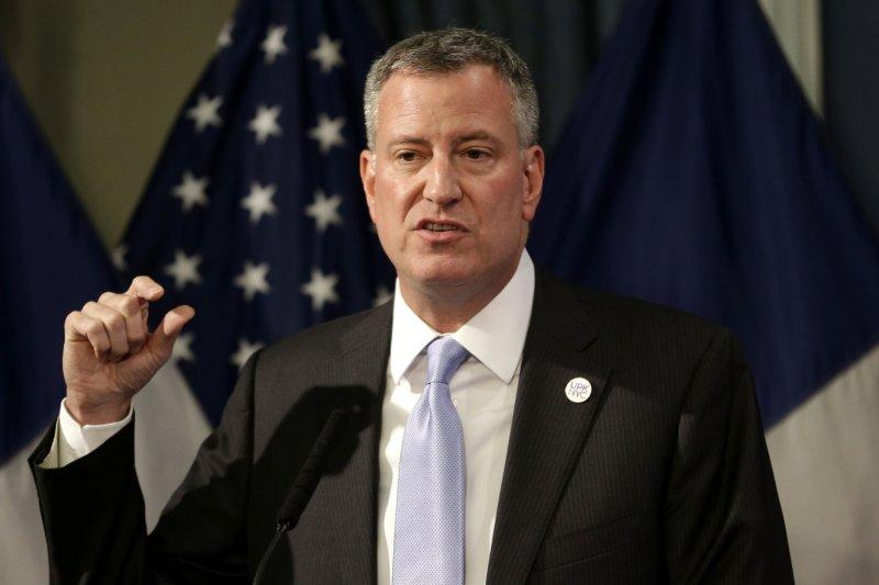 New York City Mayor Bill de Blasio UPI/Seth Wenig/Pool