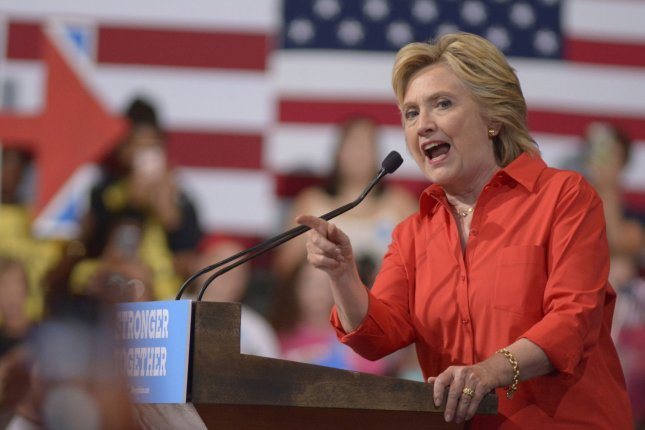 Democratic presidential candidate Hillary Clinton speaks at a rally in Pittsburgh on Saturday. Speaking to reporters Friday, Clinton said she short-circuited when she said the FBI director said her public statements about her private email server were truthful. Photo by Archie Carpenter/UPI