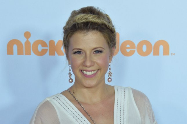 Jodie Sweetin attends Nickelodeon's Kids' Choice Awards at USC's Galen Center in Los Angeles on March 11. Sweetin's ex-fiance was arrested Monday after he was seen driving in front of the Fuller House star's home. File Photo by Jim Ruymen/UPI