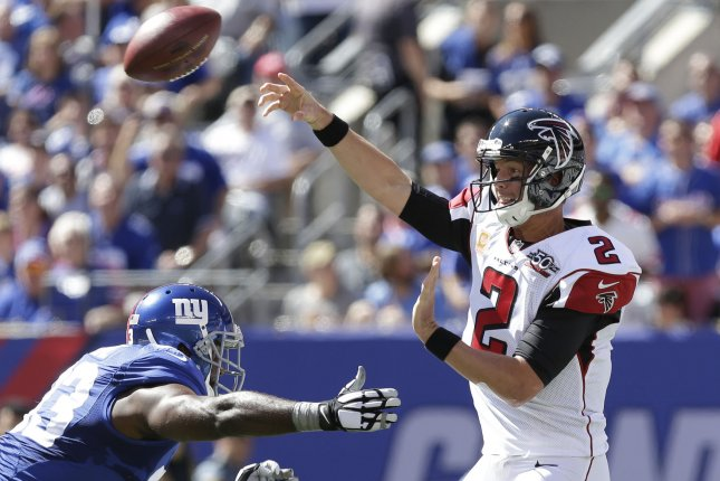 The Atlanta Falcons and quarterback Matt Ryan visit the Tennessee Titans on Sunday. Photo by John Angelillo/UPI