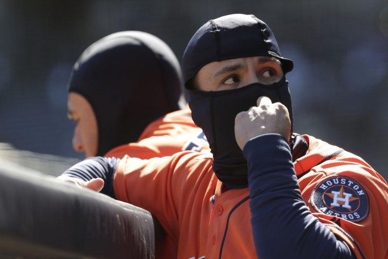 Houston Astros' Jose Altuve. Photo by John Angelillo/UPI