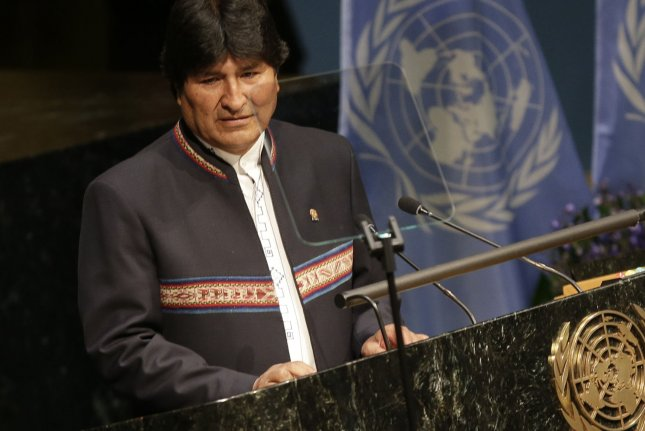 Bolivian President Evo Morales, seen here during a United Nations meeting on climate change in April, has signed into law a bill that nearly doubles the acres that can be used to grow the coca plant. He said the bill combats U.S. drug policy, which he has likened to economic terrorism. File Photo by John Angelillo/UPI