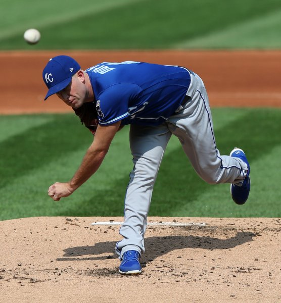 Danny Duffy and the Kansas City Royals take on the Tampa Bay Rays on Thursday. Photo by Aaron Josefczyk/UPI