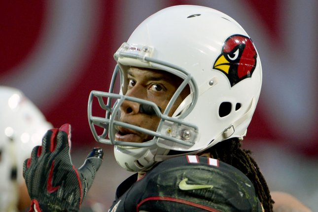 Arizona Cardinals receiver Larry Fitzgerald looks up at the scoreboard during a game against the Detroit Lions at State Farm Stadium in Glendale, Arizona on December 9, 2018. Photo by Art Foxall/UPI