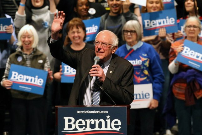Democratic presidential candidate Sen. Bernie Sanders speaks to supporters at a rally in St. Louis, Mo., on March 9. The Vermont senator left the Democratic presidential race on Wednesday  Photo by Bill Greenblatt/UPI
