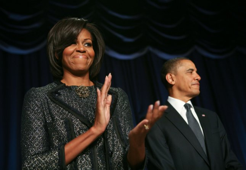 First lady Michelle Obama and President Barack Obama in Washington, Feb. 3, 2011. UPI/Gary Fabiano/Pool