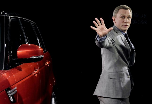 Daniel Craig unveils the new Range Rover Sport in advance of the cars global debut at the 2013 New York Auto Show with an exclusive event at Skylight at Moynihan Station in New York City on March 26, 2013. UPI/John Angelillo