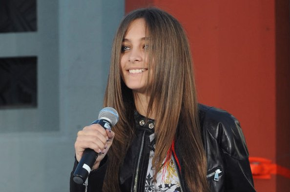 Paris Jackson introduces Justin Bieber at late dad Michael Jackson's TCL Chinese Theatre hand and footprint ceremony on January 26, 2012. The teenager responded to criticism on Instagram this week. File Photo by Jim Ruymen/UPI