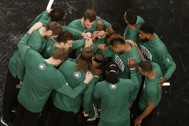 The Boston Celtics continued their mastery of the Timberwolves, overcoming a 10-point first-half deficit and cruising to a 117-104 victory over Minnesota on Wednesday night. File Photo by John Angelillo/UPI