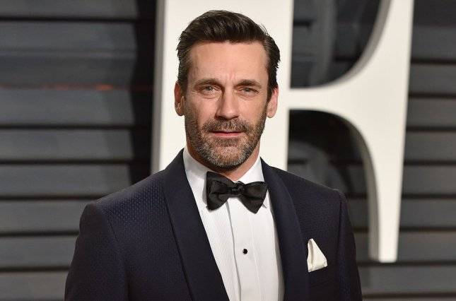 Jon Hamm attends the Vanity Fair Oscar Party on February 26. Hamm will voice Star Wars character Boba Fett in an upcoming audiobook that will also feature Neil Patrick Harris. File Photo by Christine Chew/UPI