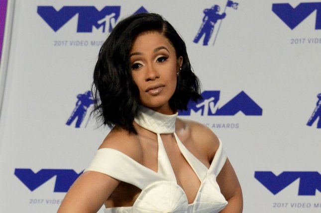Cardi B arrives for the 34th annual MTV Video Music Awards on August 27. Cardi B's Bodak Yellow has reached the top of the Hot 100 chart. File Photo by Jim Ruymen/UPI