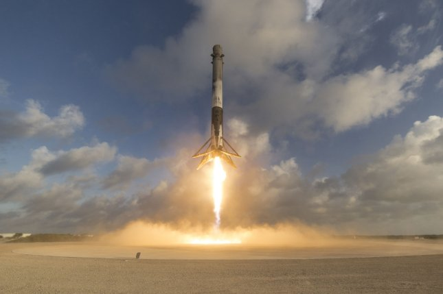SpaceX successfully launched and landed a Falcon 9 rocket on May 1 after scrubbing its initial attempt the day before due to a sensor issue. The mission saw SpaceX deliver NROL-76, a classified payload for the National Reconnaissance Office, to orbit. Photo by SpaceX/UPI
