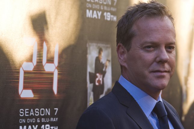 Actor Kiefer Sutherland attends the TV series 24 Season Seven screening and DVD release party in Los Angeles California on May 12, 2009. (UPI Photo/Hector Mata)