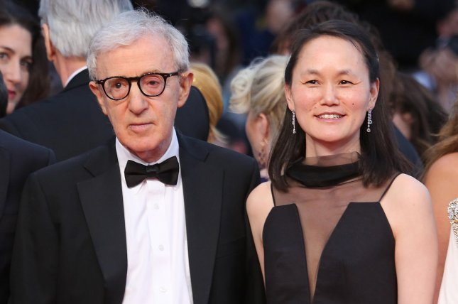 Woody Allen (L) and Soon-Yi Previn arrive on the red carpet before the screening of the film Irrational Man during the 68th annual Cannes International Film Festival in Cannes, France, on May 15, 2015. File Photo by David Silpa/UPI