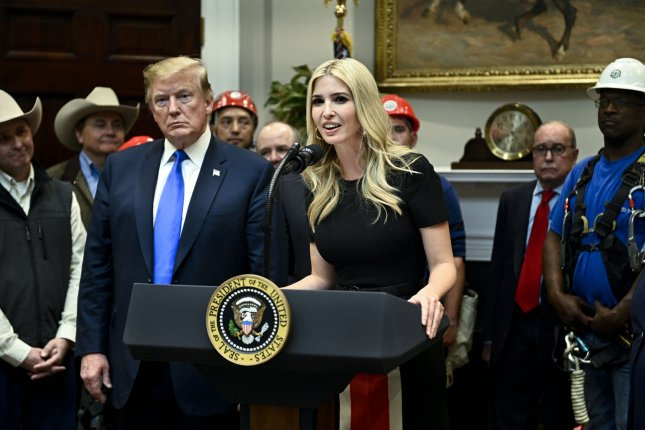 Adviser to the President and daughter Ivanka Trump has been accused of violating the Hatch Act with tweets that support her father, President Donald Trump. Photo by Leigh Vogel/UPI