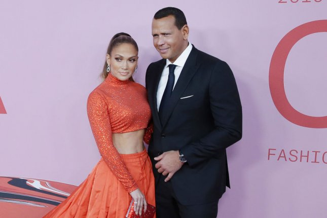 Jennifer Lopez (L) discussed Alex Rodriguez and how he helped her find work-life balance. File Photo by John Angelillo/UPI