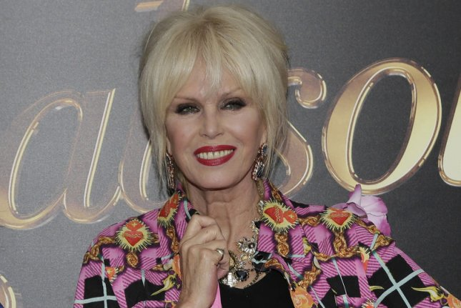 Joanna Lumley arrives on the red carpet at the Absolutely Fabulous: The Movie premiere at SVA Theater on July 18, 2016, in New York City. The actor turns 75. File Photo by John Angelillo/UPI