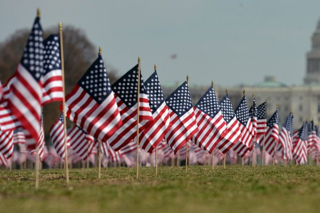 American flags on the National Mall (File/UPI/Kevin Dietsch)