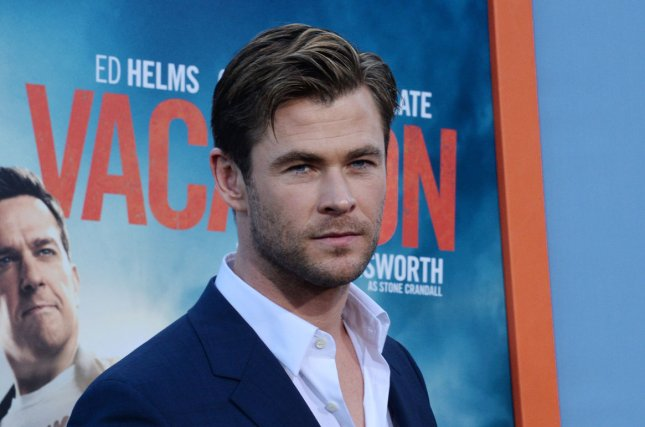 Chris Hemsworth at the Los Angeles premiere of 'Vacation' on July 27, 2015. The actor returns as the Huntsman in a 'The Huntsman: Winter's War' character poster. File Photo by Jim Ruymen/UPI