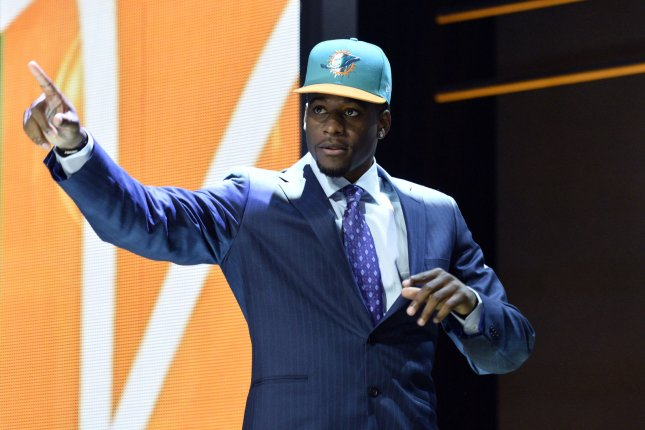 DeVante Parker was selected 14th overall by the Miami Dolphins during the first round of the NFL Draft on April 30, 2015 in Chicago. Photo by Brian Kersey/UPI