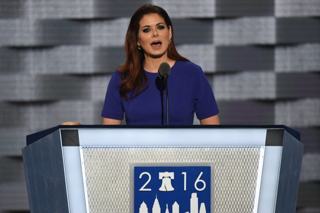 Debra Messing addresses delegates on day two of the Democratic National Convention on July 26. GLAAD has announced that Messing will receive the Excellence in Medai Award at their upcoming award show. File Photo by Pat Benic/UPI