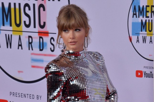 Taylor Swift arrives for the 46th annual American Music Awards at the Microsoft Theater in Los Angeles on October 9. The singer turns 29 on December 13. File Photo by Jim Ruymen/UPI