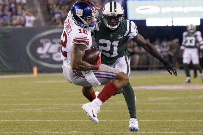 Morris Claiborne (21) started 15 games in each of his last two seasons with the New York Jets. File Photo by John Angelillo/UPI