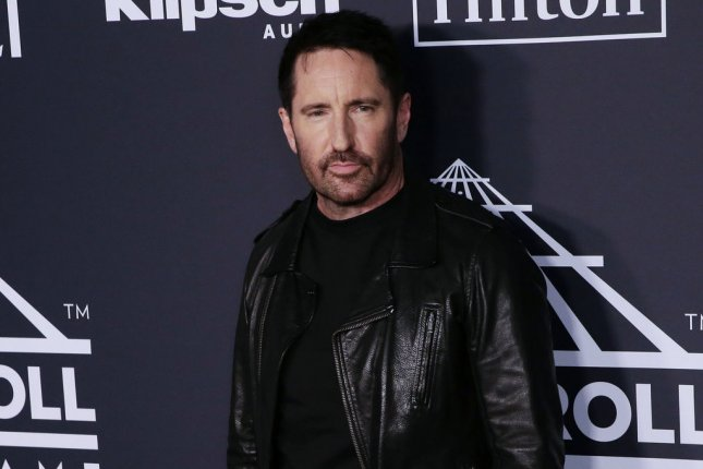 Trent Reznor of Nine Inch Nails arrives on the red carpet at the 34th annual Rock and Roll Hall of Fame induction ceremony in March 2019. File Photo by John Angelillo/UPI